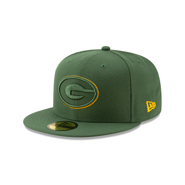 GREEN BAY PACKERS NFL LOGO ELEMENTS 59FIFTY FITTED 3 quarter left view