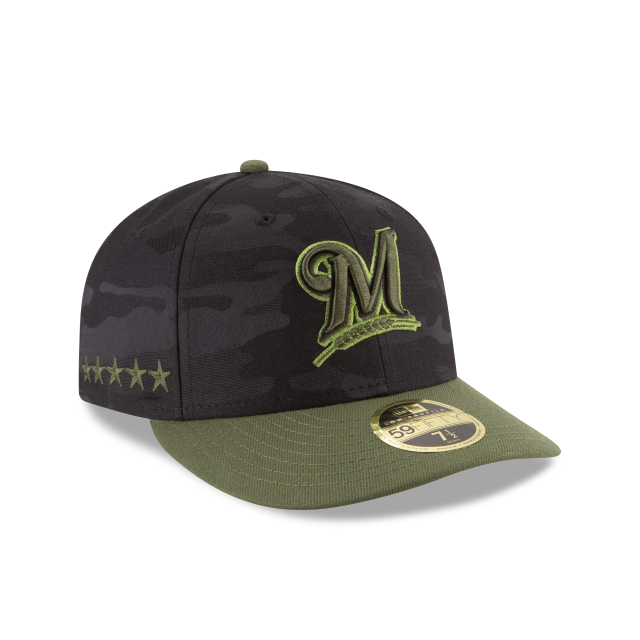 MILWAUKEE BREWERS MEMORIAL DAY LOW PROFILE 59FIFTY FITTED 3 quarter right view