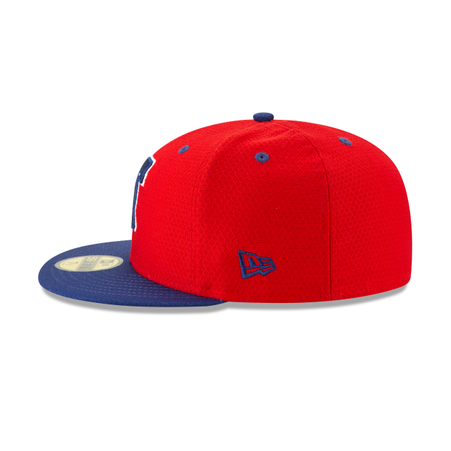 PHILADELPHIA PHILLIES BATTING PRACTICE 59FIFTY FITTED Left side view
