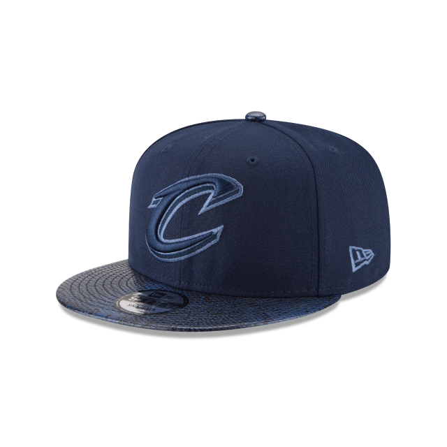 CLEVELAND CAVALIERS SNAKESKIN BLUE 9FIFTY SNAPBACK 3 quarter left view