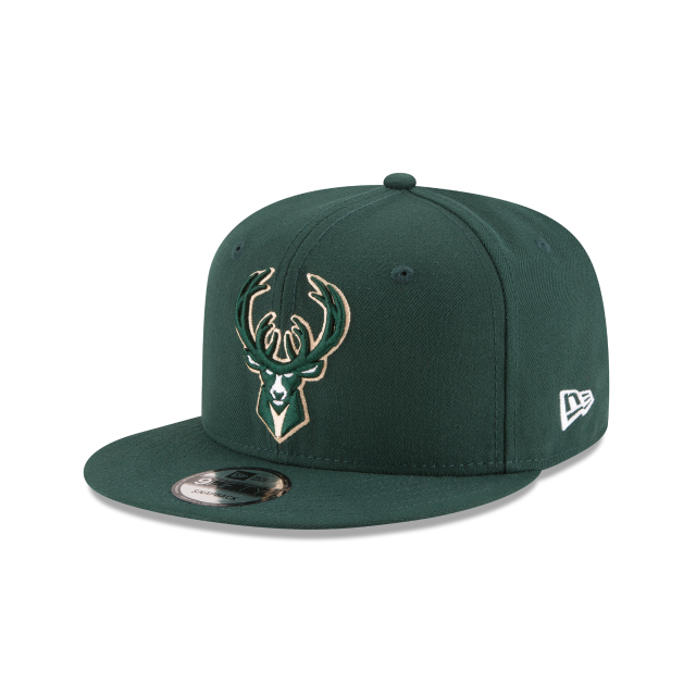 MILWAUKEE BUCKS PLAYOFF SIDE PATCH 9FIFTY SNAPBACK 3 quarter left view