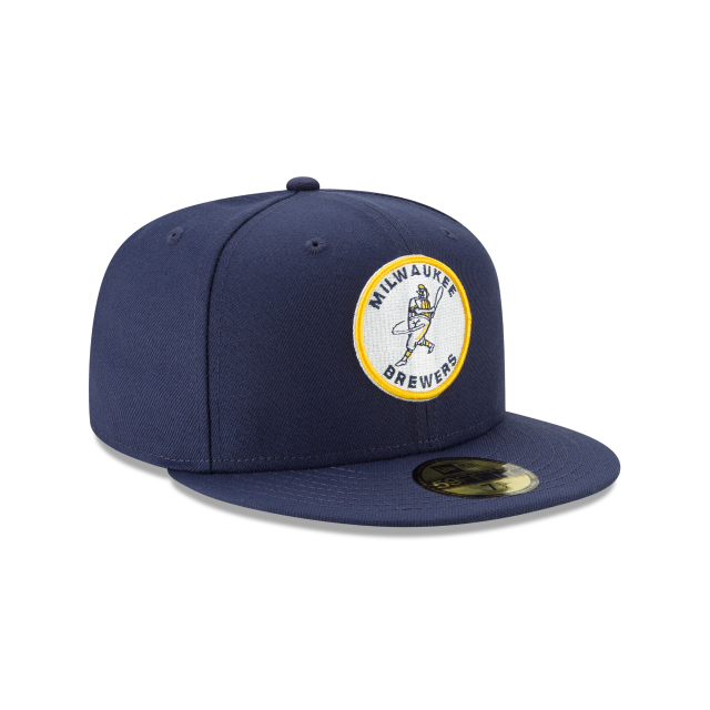 MILWAUKEE BREWERS LOGO PACK 59FIFTY FITTED 3 quarter right view