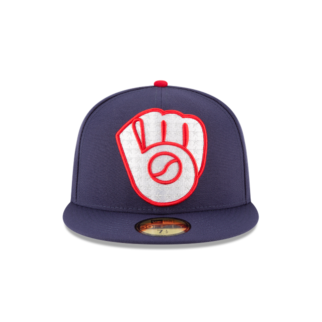 MILWAUKEE BREWERS PATRIOTIC TURN 59FIFTY FITTED Front view