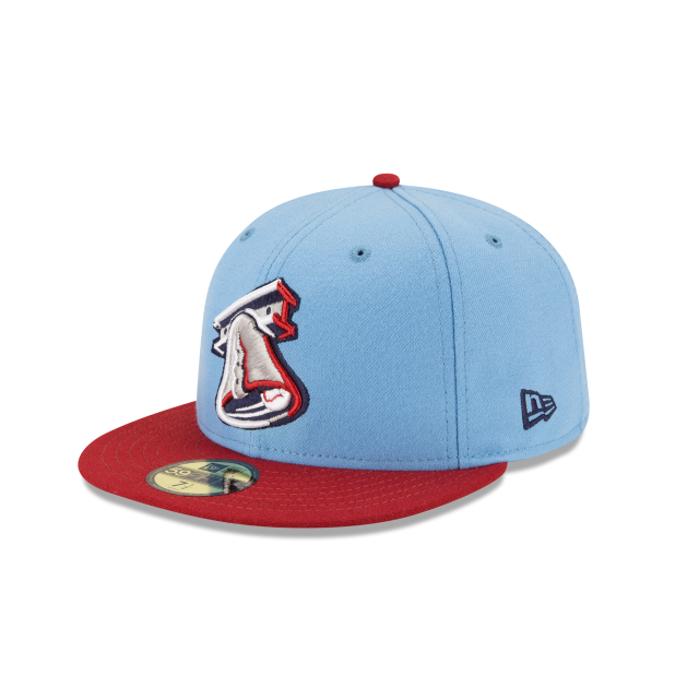 LEHIGH VALLEY IRON PIGS AUTHENTIC COLLECTION 59FIFTY FITTED 3 quarter left view