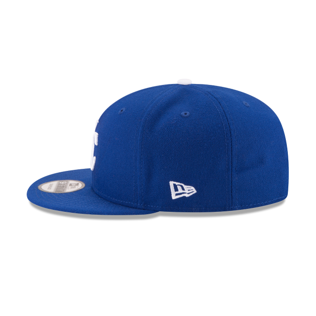 KANSAS CITY ROYALS TEAM COLOR BASIC 9FIFTY SNAPBACK Left side view