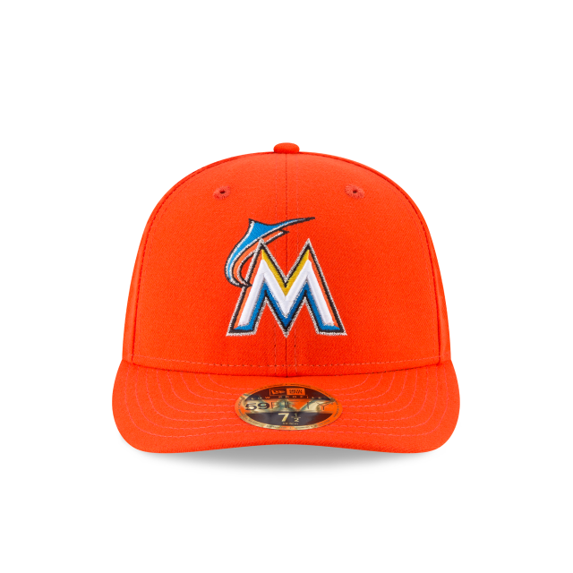 a86dd50d99b ... 3 quarter left view. MIAMI MARLINS LOW PROFILE ROAD AC 59FIFTY FITTED  Front view