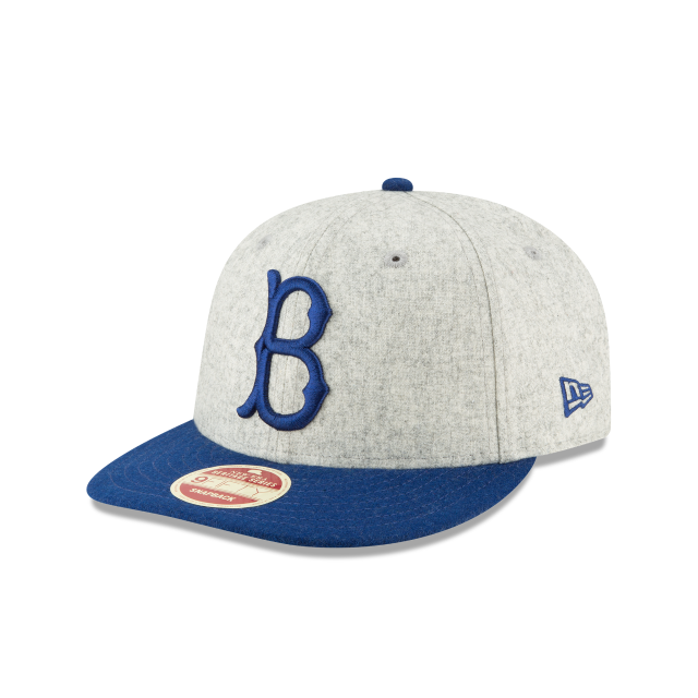 BROOKLYN DODGERS MELTON WOOL THROWBACK 9FIFTY SNAPBACK 3 quarter left view