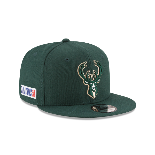 MILWAUKEE BUCKS PLAYOFF SIDE PATCH 9FIFTY SNAPBACK 3 quarter right view