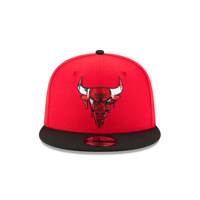 CHICAGO BULLS MELTING LOGO 9FIFTY SNAPBACK Front view