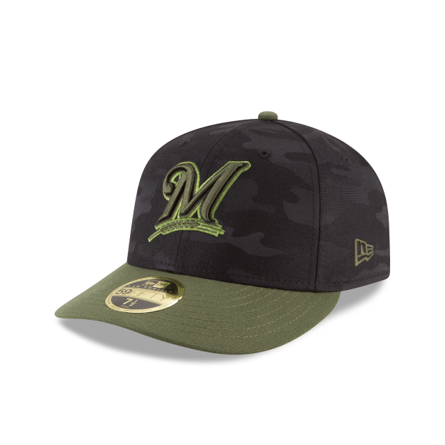 MILWAUKEE BREWERS MEMORIAL DAY LOW PROFILE 59FIFTY FITTED 3 quarter left view