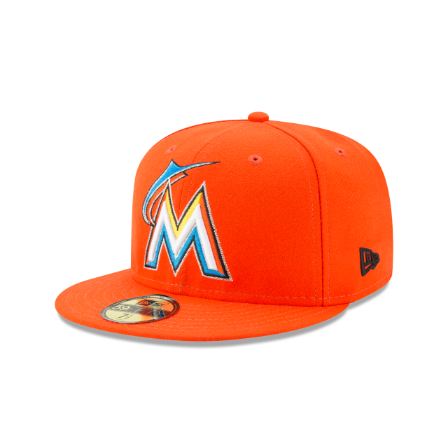53b8666654b MIAMI MARLINS AUTHENTIC COLLECTION 59FIFTY FITTED 3 quarter left view