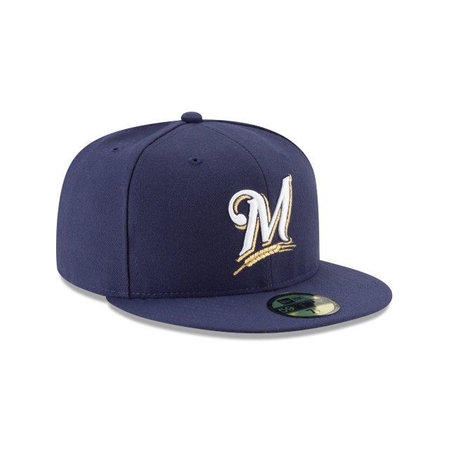 MILWAUKEE BREWERS AUTHENTIC COLLECTION 59FIFTY FITTED 3 quarter right view