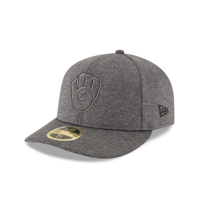 MILWAUKEE BREWERS CLUBHOUSE COLLECTION LOW PROFILE 59FIFTY 3 quarter left view