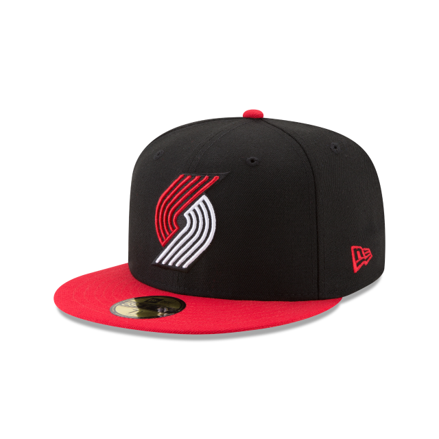 PORTLAND TRAILBLAZERS 2TONE 59FIFTY FITTED 3 quarter left view