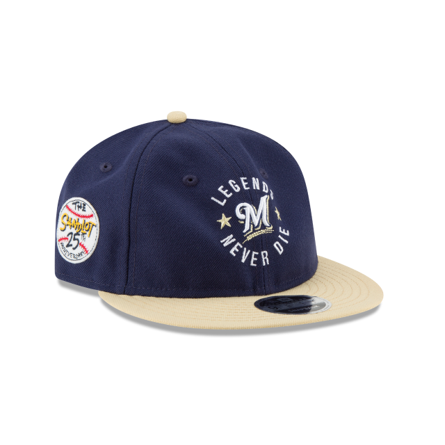 MILWAUKEE BREWERS SANDLOT LND RETRO CROWN 9FIFTY SNAPBACK 3 quarter right view