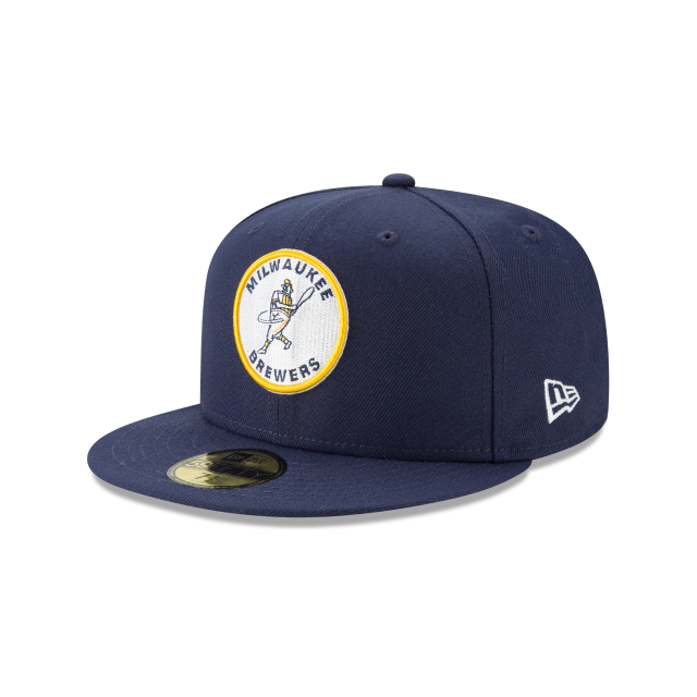 MILWAUKEE BREWERS LOGO PACK 59FIFTY FITTED 3 quarter left view