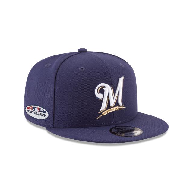 MILWAUKEE BREWERS POSTSEASON SIDE PATCH BASIC 9FIFTY SNAPBACK 3 quarter right view