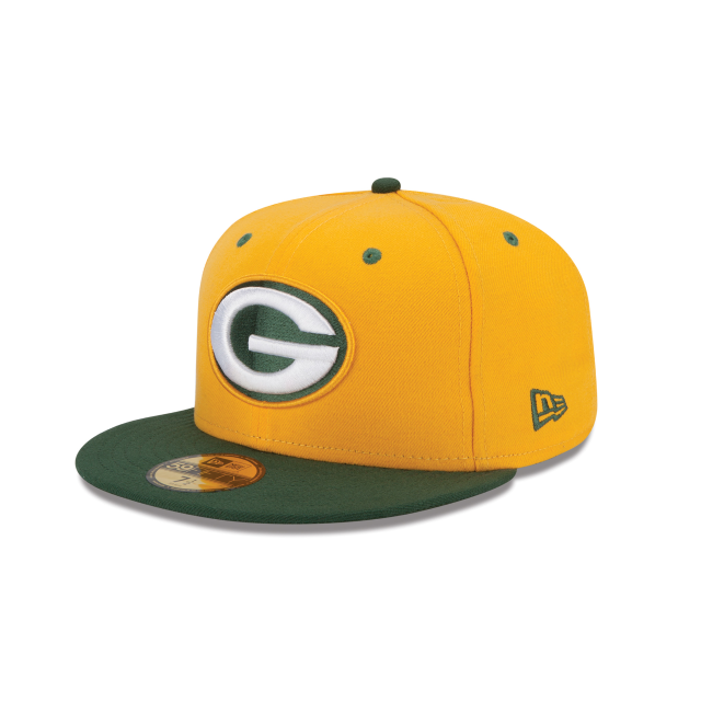 GREEN BAY PACKERS 2TONE 59FIFTY FITTED 3 quarter left view