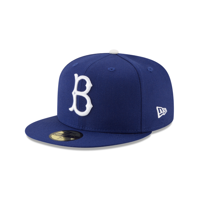 BROOKLYN DODGERS 1955 WORLD SERIES SIDE PATCH 59FIFTY FITTED 3 quarter left view