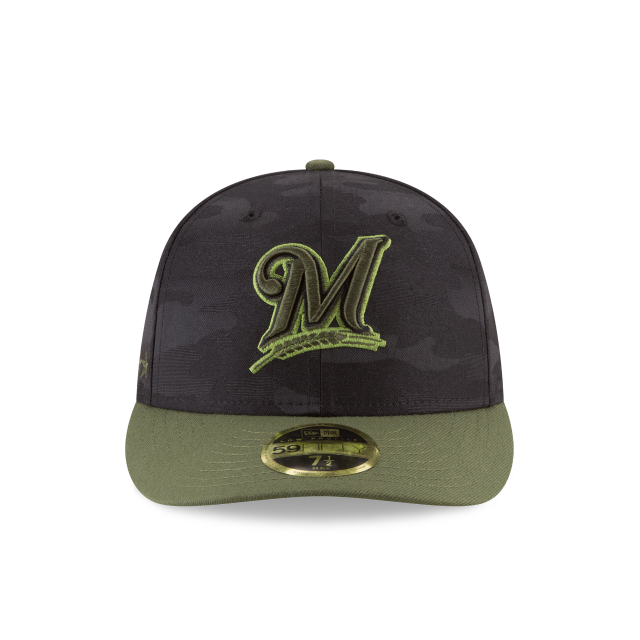 MILWAUKEE BREWERS MEMORIAL DAY LOW PROFILE 59FIFTY FITTED Front view