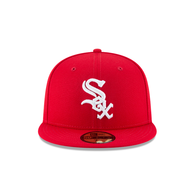CHICAGO WHITE SOX SCARLET BASIC 59FIFTY FITTED Front view