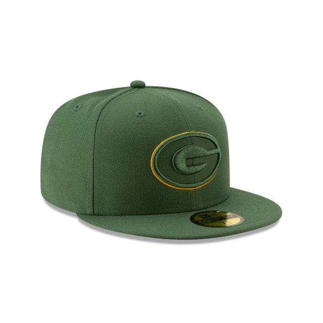 GREEN BAY PACKERS NFL LOGO ELEMENTS 59FIFTY FITTED 3 quarter right view