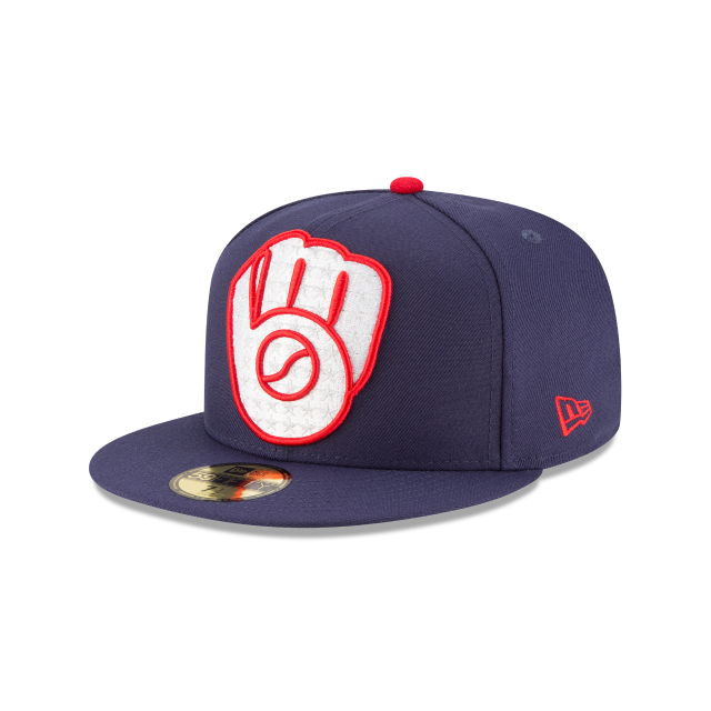 MILWAUKEE BREWERS PATRIOTIC TURN 59FIFTY FITTED 3 quarter left view