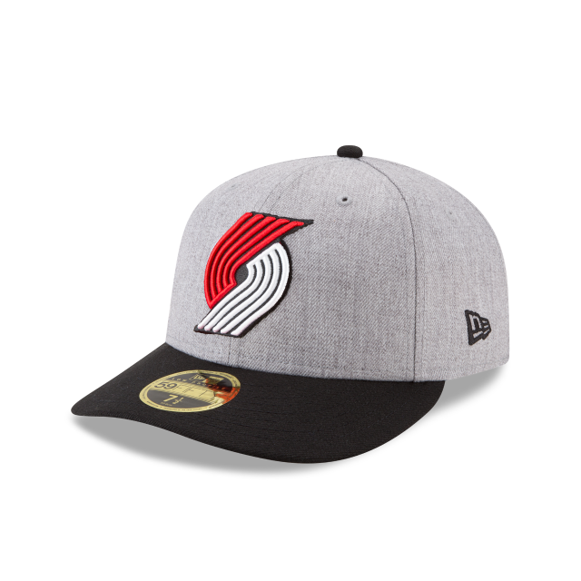 PORTLAND TRAILBLAZERS HEATHER LOW PROFILE 59FIFTY FITTED 3 quarter left view