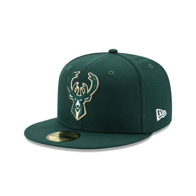 MILWAUKEE BUCKS TEAM COLOR 59FIFTY FITTED 3 quarter left view