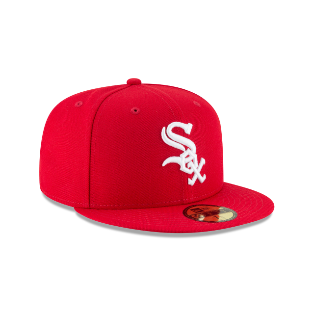 CHICAGO WHITE SOX SCARLET BASIC 59FIFTY FITTED 3 quarter right view
