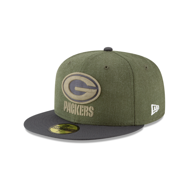 GREEN BAY PACKERS SALUTE TO SERVICE KIDS 59FIFTY FITTED 3 quarter left view 20b6a56d2e1