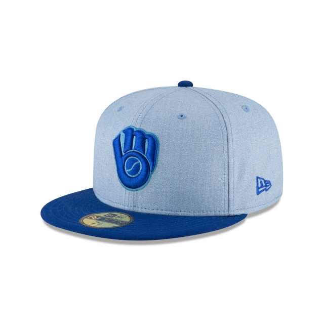 MILWAUKEE BREWERS FATHERS DAY 59FIFTY FITTED 3 quarter left view