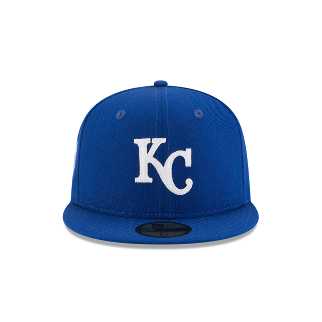 sale retailer 32a51 8abc0 ... mlb baseball new era 9fifty 14218 88281  discount code for kansas city  royals inaugural season 59fifty fitted front view d28ae 7a0c0