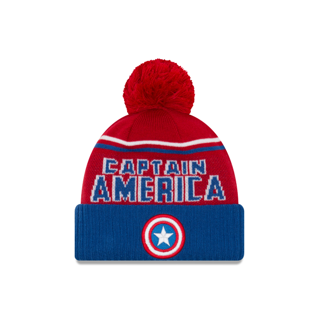 CAPTAIN AMERICA JUMBO CHEER KNIT Front view
