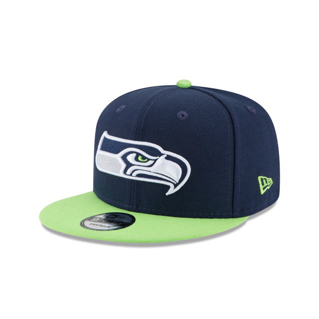 SEATTLE SEAHAWKS TEAM PATCHER 9FIFTY SNAPBACK 3 quarter left view