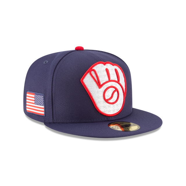MILWAUKEE BREWERS PATRIOTIC TURN 59FIFTY FITTED 3 quarter right view