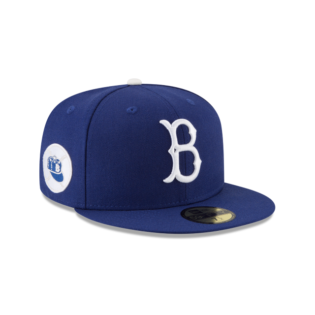 BROOKLYN DODGERS 1955 WORLD SERIES SIDE PATCH 59FIFTY FITTED 3 quarter right view