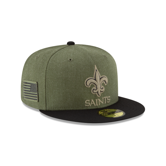 8a2e4dcc108 ... reduced new orleans saints salute to service 59fifty fitted 3 quarter  right view cc077 63ceb