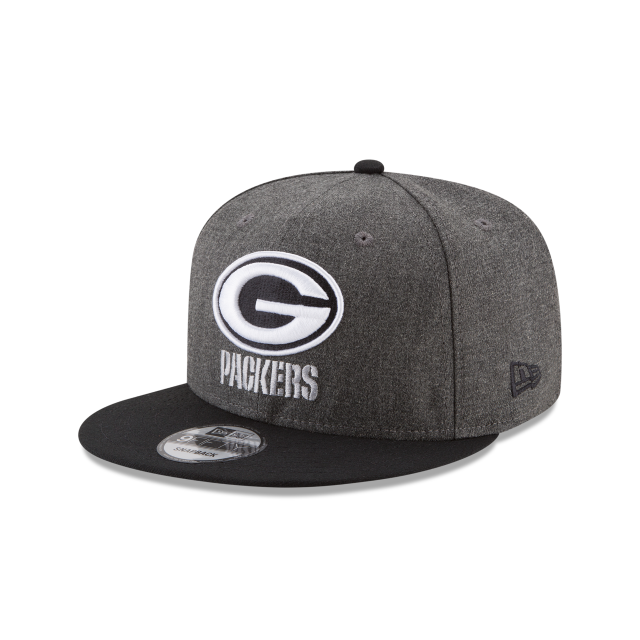 GREEN BAY PACKERS CRAFTED IN THE USA - BLACK 9FIFTY SNAPBACK 3 quarter left view