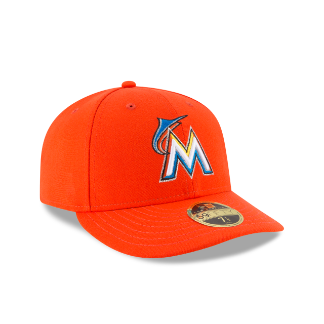 ac35e3c09c1 MIAMI MARLINS LOW PROFILE ROAD AC 59FIFTY FITTED 3 quarter right view