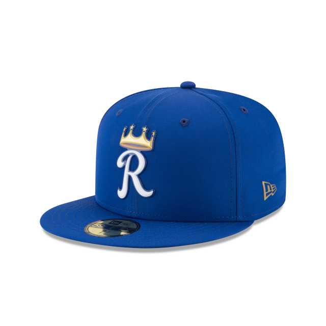 KIDS KANSAS CITY ROYALS BATTING PRACTICE PROLIGHT 59FIFTY FITTED 3 quarter left view