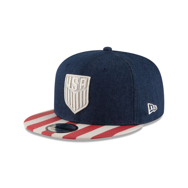 USA SOCCER FULLY FLAGGED 9FIFTY SNAPBACK 3 quarter left view 1aaf208bf37
