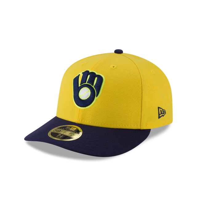 MILWAUKEE BREWERS PLAYERS WEEKEND LOW PROFILE 59FIFTY FITTED 3 quarter left view