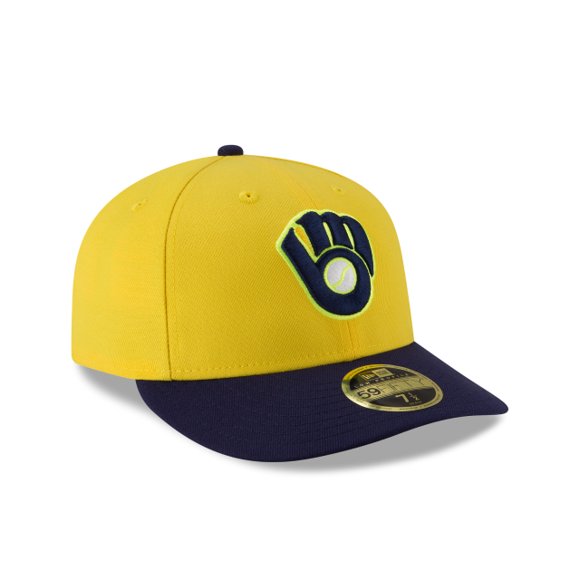 MILWAUKEE BREWERS PLAYERS WEEKEND LOW PROFILE 59FIFTY FITTED 3 quarter right view