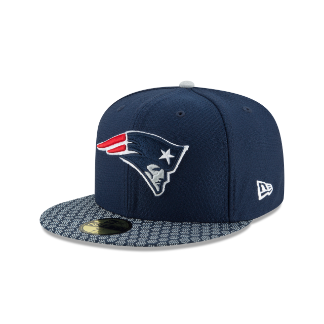 NEW ENGLAND PATRIOTS PLAYOFF SIDE PATCH 59FIFTY FITTED 3 quarter left view 08dca816cd7