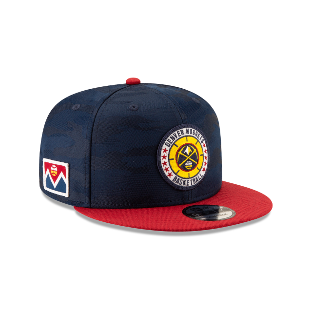 DENVER NUGGETS 2018 NBA AUTHENTICS: TIP OFF SERIES TWO-TONE 9FIFTY SNAPBACK 3 quarter right view