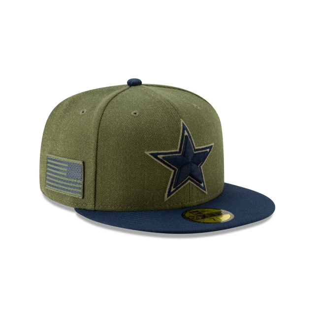 9c03ee1fb830c6 ... low price dallas cowboys salute to service 59fifty fitted 3 quarter  right view ae7da 8c448