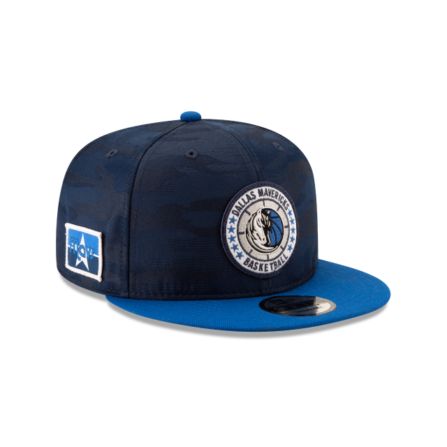DALLAS MAVERICKS 2018 NBA AUTHENTICS: TIP OFF SERIES TWO-TONE 9FIFTY SNAPBACK 3 quarter right view