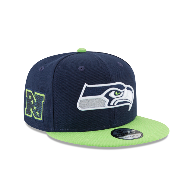 SEATTLE SEAHAWKS TEAM PATCHER 9FIFTY SNAPBACK 3 quarter right view