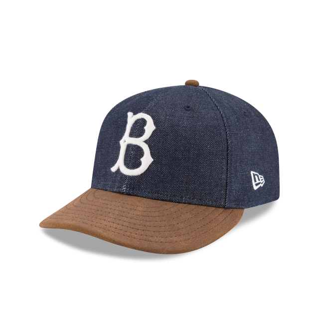 BROOKLYN DODGERS LEVIS COOPERSTOWN 1952 LOW PROFILE 9FIFTY STRAPBACK 3 quarter left view